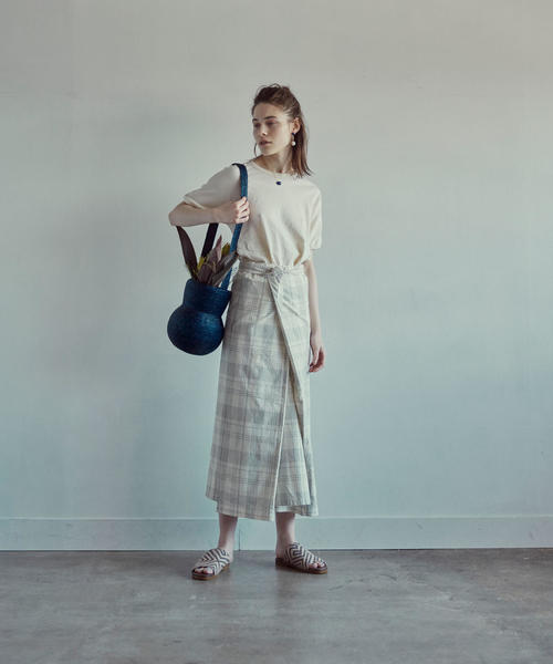 <THE HINOKI×Steven Alan>APRON DRESS CHECK/ワンピース