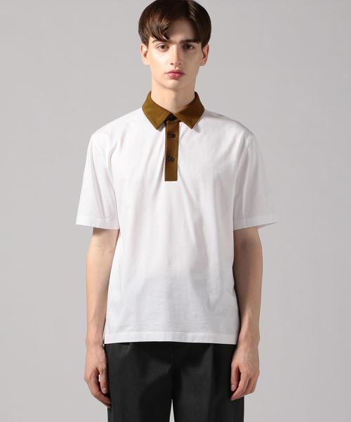 CABaN(キャバン)の「コットン ポロTシャツ(ポロシャツ)」 ホワイト系その他