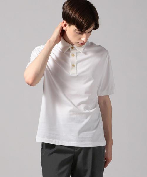 CABaN(キャバン)の「コットン ポロTシャツ(ポロシャツ)」 ホワイト