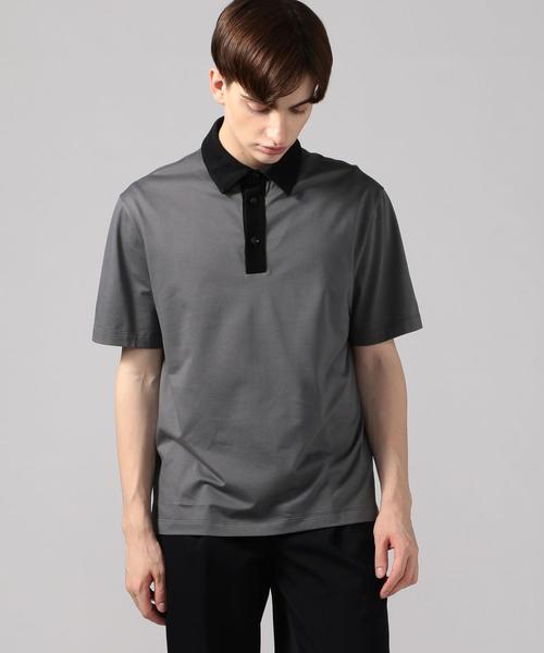 CABaN(キャバン)の「コットン ポロTシャツ(ポロシャツ)」 グレー系その他2