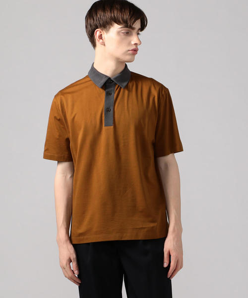 CABaN(キャバン)の「コットン ポロTシャツ(ポロシャツ)」 ブラウン系その他2