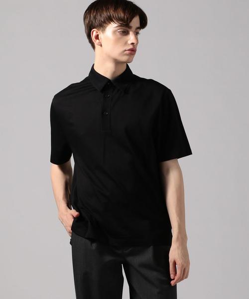 CABaN(キャバン)の「コットン ポロTシャツ(ポロシャツ)」 ブラック