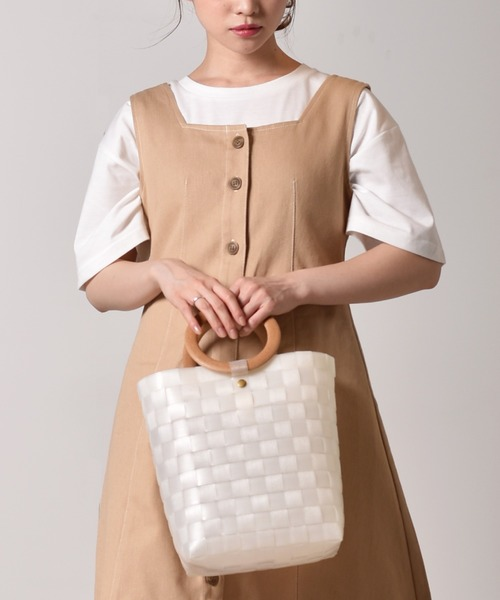 編みトートバッグ