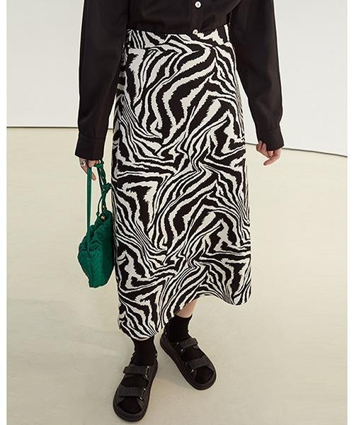 【Fano Studios】【2021SS】Zebra pattern trapeze skirt FC21B028