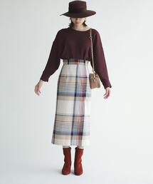 EMMEL REFINES(エメルリファインズ)のSMF BALLI チェックスカート(スカート)