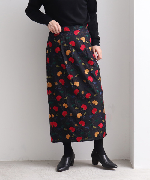数量は多い  多色刺繍 タイトスカート, スタジオ マーリエ ae77da9e