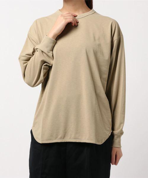 GYMPHLEX(ジムフレックス)の「【Gymphlex】ラウンドカット クルーネックTシャツ WOMEN(Tシャツ/カットソー)」 ベージュ