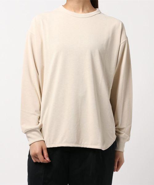 GYMPHLEX(ジムフレックス)の「【Gymphlex】ラウンドカット クルーネックTシャツ WOMEN(Tシャツ/カットソー)」 オフホワイト