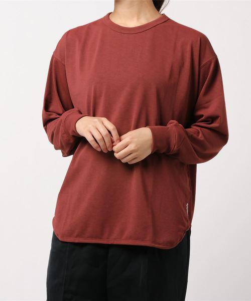 GYMPHLEX(ジムフレックス)の「【Gymphlex】ラウンドカット クルーネックTシャツ WOMEN(Tシャツ/カットソー)」 ワインレッド