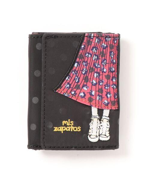 【抗菌】mis zapatos 三つ折り財布 二つ折り 2つ折り ミニ財布 ミニウォレット