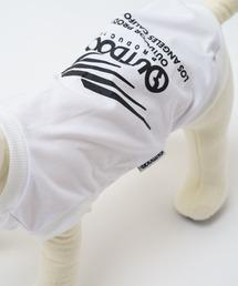DOGブランドロゴプリントTシャツ(ホワイト) ドッグウェア ペットグッズホワイト