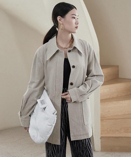 【chuclla】【2021/AW】Soutien collar jacket chwt21a02