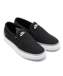 NIKE(ナイキ)のNIKE WMNS TOKI SLIP CANVAS (BLACK/WHITE) (スリッポン)