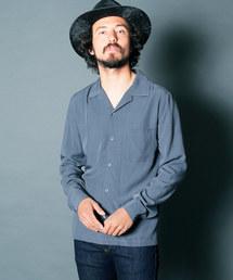 Magine(マージン)のRAYON OPEN COLLAR SHIRTS L/S:レーヨン オープンカラーシャツ(シャツ/ブラウス)
