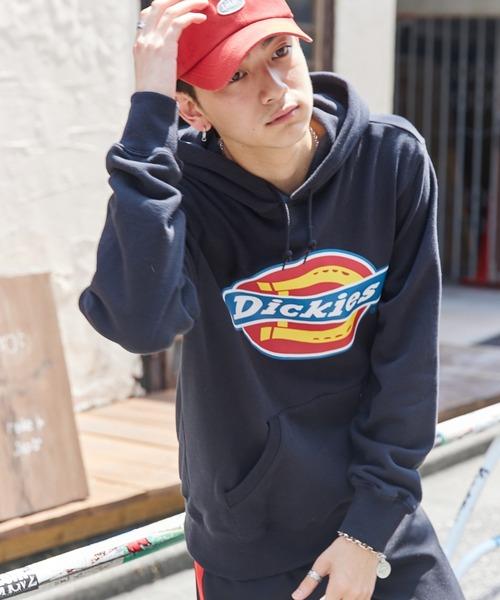 Dickies/ディッキーズ ロゴプリントウラケプルオーバーパーカー
