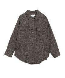 LAGUNAMOON(ラグナムーン)のヘリンボンツィードシャツコート(ブルゾン)