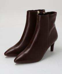 ◆FFC ポインテッド ショートブーツ(7cmヒール)