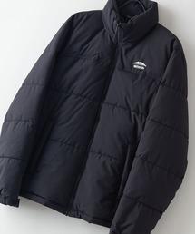撥水防風ストレッチ耐水圧10000mmスタンド中綿 カモフラージュ(迷彩)ジャケット ワンポイントブランドロゴブラック