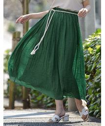 Re:EDIT(リエディ)のロープ付き楊柳ロングフレアスカート(スカート)