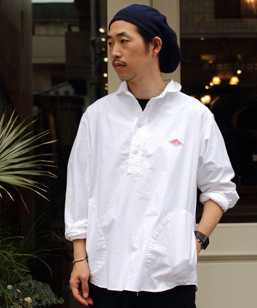 DANTON / ダントン 丸襟プルオーバーシャツ オックスフォードクロス(メンズ)