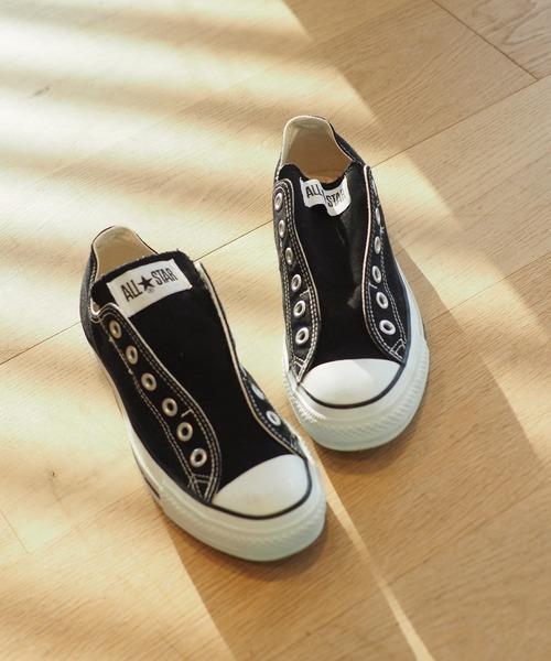 B:MING by BEAMS(ビーミングバイビームス)の「CONVERSE / ALL STAR スリップ(22.5~24.5cm)(スニーカー)」|ブラック