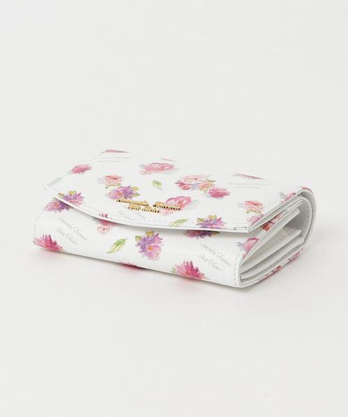 フラワープリントシリーズ 折財布