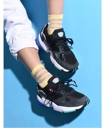adidas(アディダス)の「adidas アディダス FLCN W ファルコン F35270_ *BLK/CRN/GRY(スニーカー)」