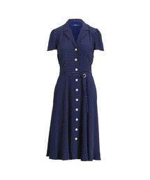 64b1f0c718b24 POLO WOMEN S(ポロ ウィメンズ)の「ポルカドット クレープ ドレス(シャツワンピース). POLO RALPH LAUREN