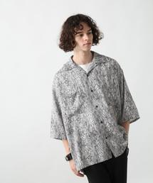 HARE(ハレ)のアニマルガラオープンネックシャツ(HARE)(シャツ/ブラウス)