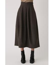 RIM.ARK(リムアーク)のハイウエストチェックコクーンスカート(スカート)