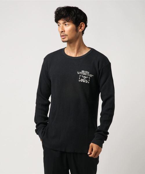 AVIREX/アヴィレックス/ ビッグワッフル BIGクルーネックTシャツ/ BIG WAFFLE CREW NECK Tシャツ