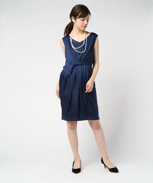 【はこぽす対応商品】 【セール】フロントウエストシャーリングリボンサテン裏地付きワンピースドレス(スニーカー)|moca セール,SALE,moca couture(モカクチュール)のファッション通販, まえだふとん店:ef08de4c --- talkonomy.com