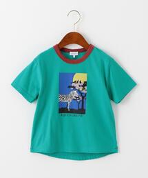 アフリカプリントリンガーTシャツ