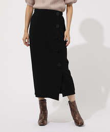 AZUL BY MOUSSY(アズールバイマウジー)のBUTTON TIGHT SLIT PENCIL SKIRT/ブートンタイトスリットペンシルスカート(スカート)