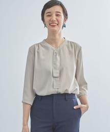WORK TRIP OUTFITS GREEN LABEL RELAXING(ワークトリップアウトフィッツグリーンレーベル リラクシング)の【WORK TRIP OUTFITS】CS フロントタイ ブラウス(シャツ/ブラウス)