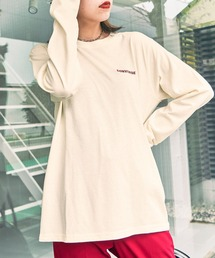 CONVERSE/コンバース 天竺 刺繍ロゴ L/S Tシャツ/長袖ティーシャツホワイト系その他