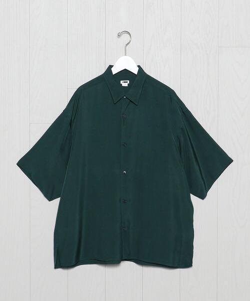 <H>WASHED RAYON  SQUARE CUT REGULAR SHIRT/シャツ