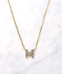 mint jam(ミントジャム)のK10YG ダイヤモンドイニシャル ネックレス(ネックレス)