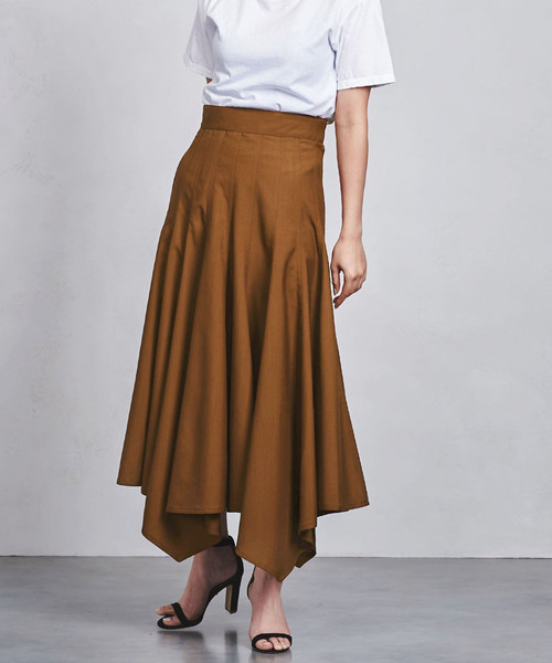 <CINOH(チノ)>タックドレープスカート ◆