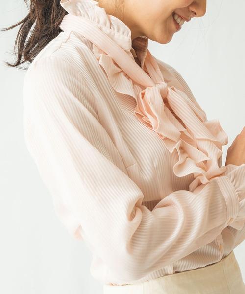 【日本限定モデル】 サテンストライプフリルリボン長袖ブラウス(シャツ/ブラウス)|NARACAMICIE(ナラカミーチェ)のファッション通販, ウオヅシ:36a73f44 --- blog.buypower.ng
