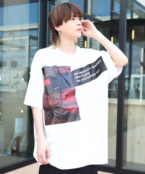 AFYF(エーエフワイエフ)の「【ビッグシルエット】AFYF MESH TR PRIBT SS TEE/メッシュプリントビッグTEE(Tシャツ/カットソー)」|ホワイト系その他2