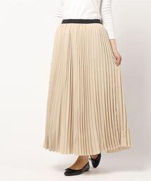 Samansa Mos2(サマンサ モスモス)の柄アソートアコーディオンプリーツスカート(スカート)