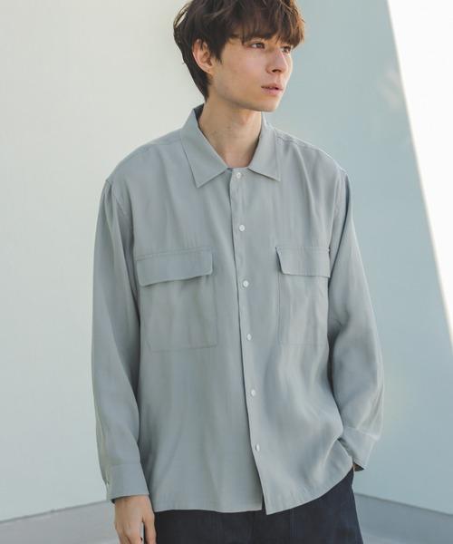 niko and...(ニコアンド)の「オープンカラーシャツ(シャツ/ブラウス)」|ライトブルー