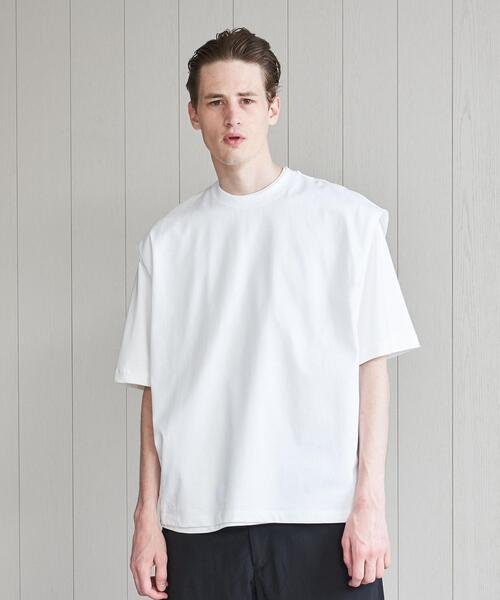 <H>COTTON NO SLEEVE T-SHIRT/Tシャツ