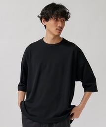 STUDIOUS(ステュディオス)の【STUDIOUS】クリアポンチ6分袖ビッグシルエットクル—ネックTシャツ(Tシャツ/カットソー)