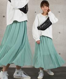 a66f2c77512e0 abitokyo(アビトーキョー)の「エアリープリーツロングスカート(スカート)」
