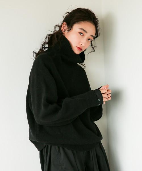 niko and...(ニコアンド)の「VONNELAIRウールプルオーバー(ニット/セーター)」|ブラック