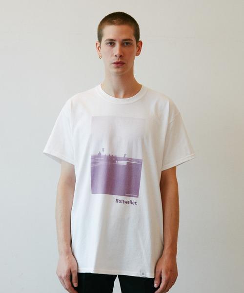 ROTTWEILER(ロットワイラー)の「Pastel Photo Tee(Tシャツ/カットソー)」 パープル