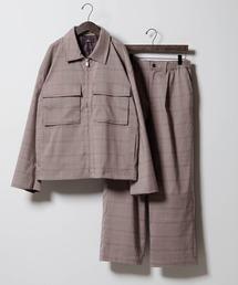 【セットアップ】TRストレッチ スーツ地 オーバーサイズ CPOジャケット & ワイドパンツ -2021SPRING-グレー系その他2