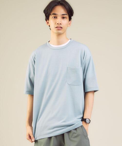 【さまになるTシャツ】< 機能 / 吸水速乾 > ドライ ウールミックス クルーネック Tシャツ #